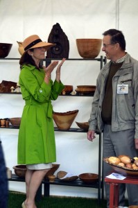 Kronprinsesse Mary besøger min stand på Garden Living Fair 2012